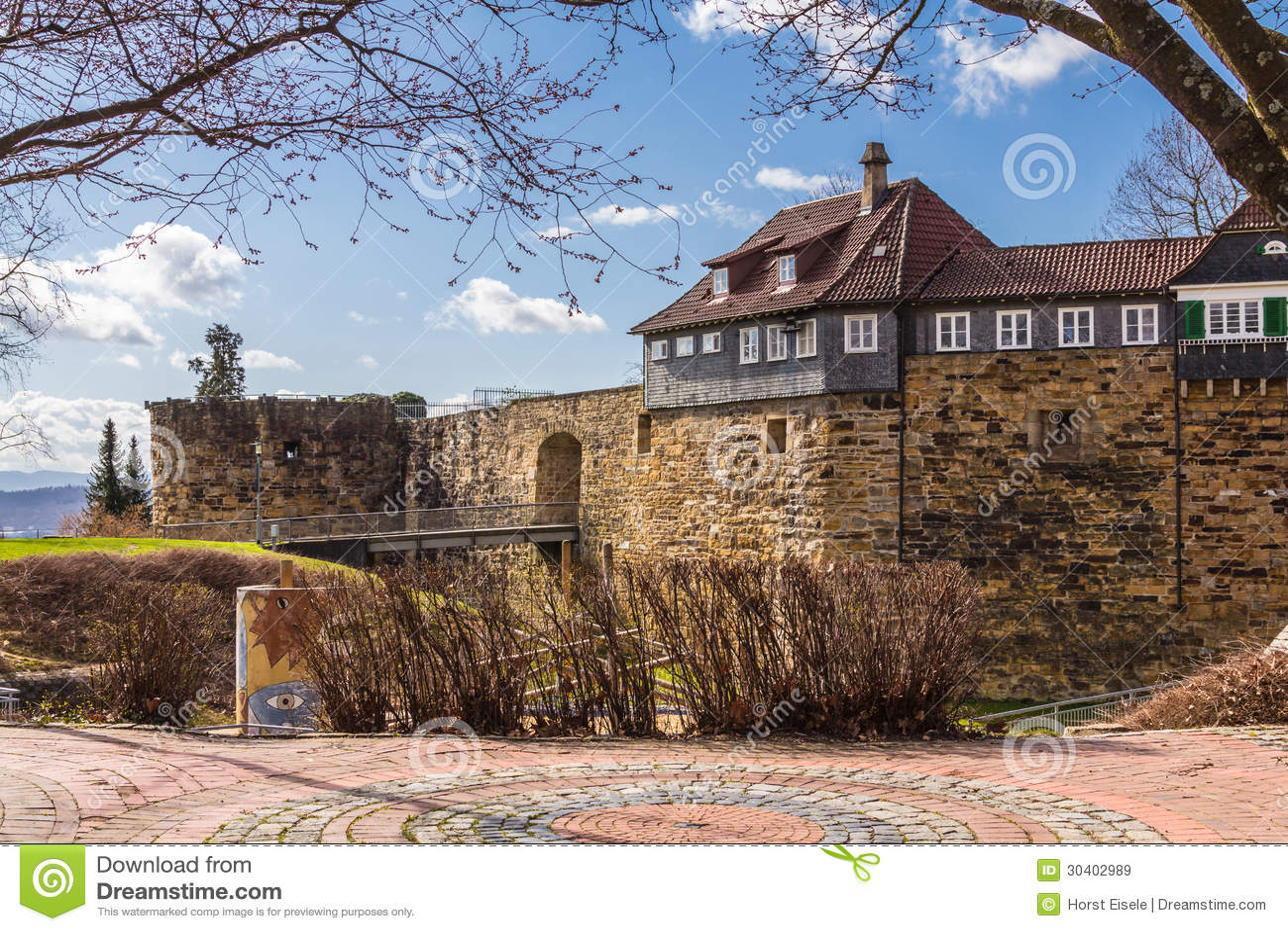 Schloss Esslingen Esslinger Burg Stockbild Bild Von Krieg