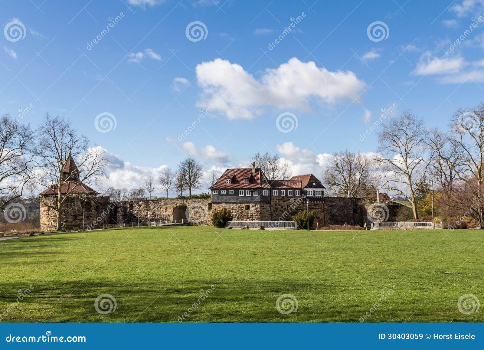 Schloss Esslingen Esslinger Burg Stockbild Bild Von Himmel Wand