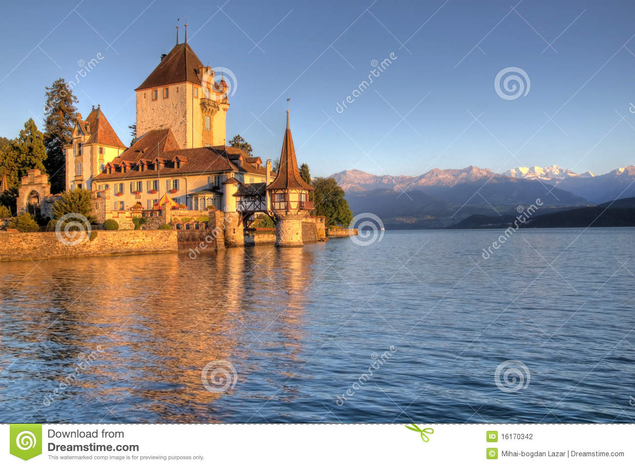 Schloss Oberhofen on Thun Lake, Switzerland