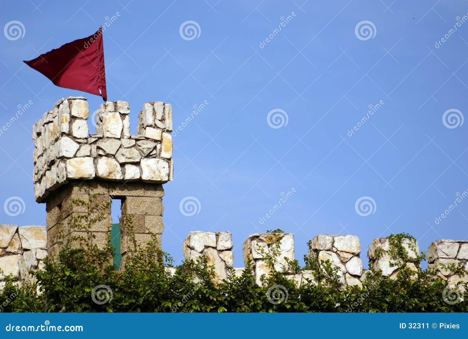 Schloss-Uhr-Kontrollturm