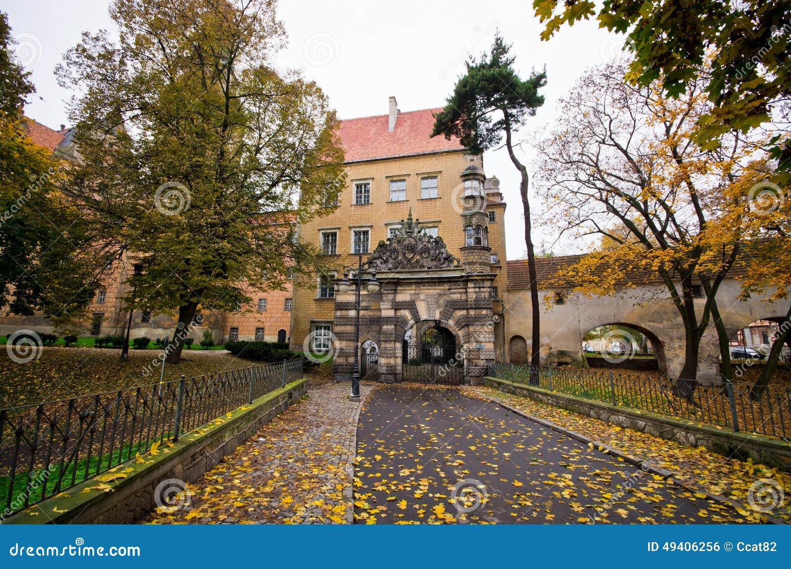 Download Schloss Von Olesnica Herzögen - Olesnica, Polen Stockfoto - Bild von wolke, villa: 49406256