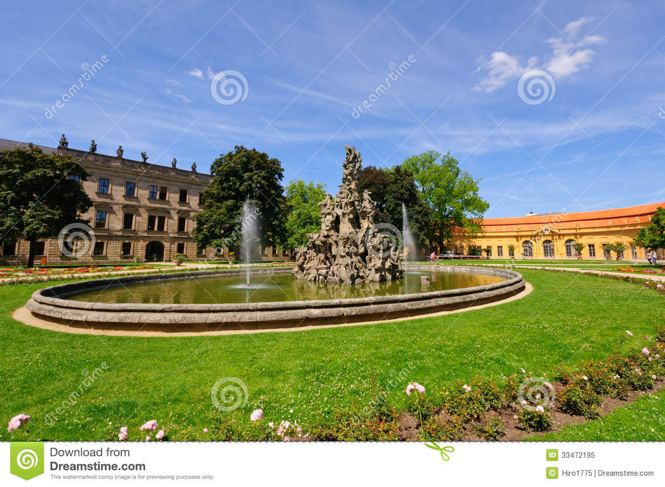 Erlangen Germany  city images : Schlossgarten In Summer In Erlangen, Germany Royalty Free Stock Photo ...