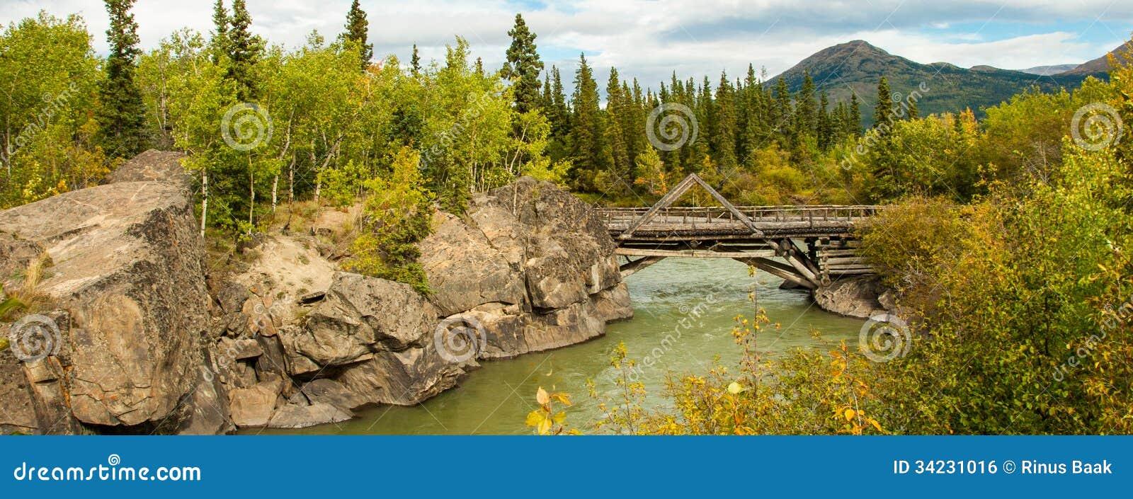Schlucht-Nebenfluss-Brücke