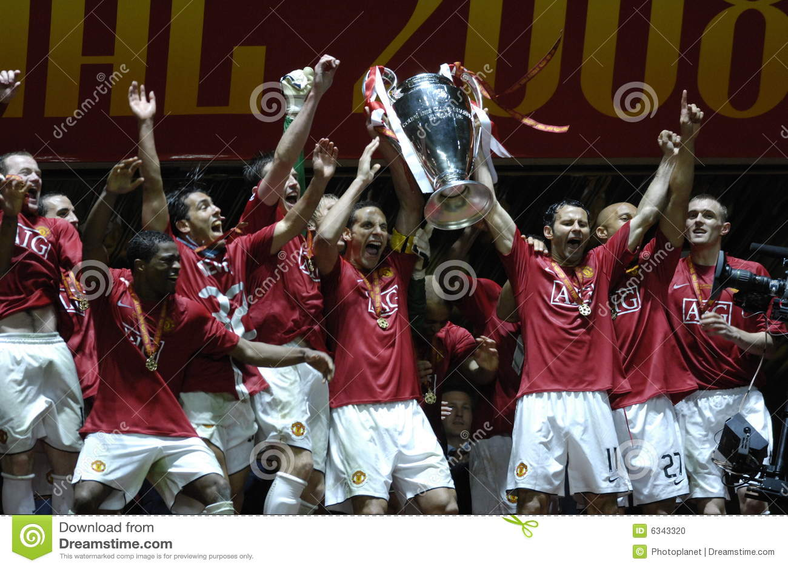Schluss UEFA-Champions League Moskau 2008
