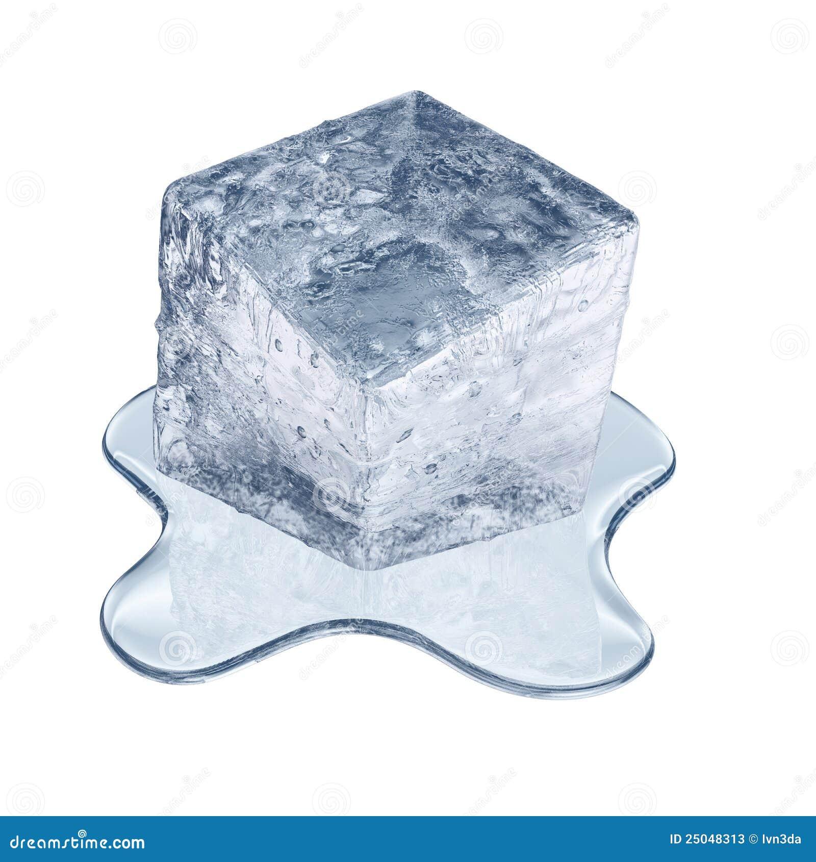 Schmelzender Eiswürfel