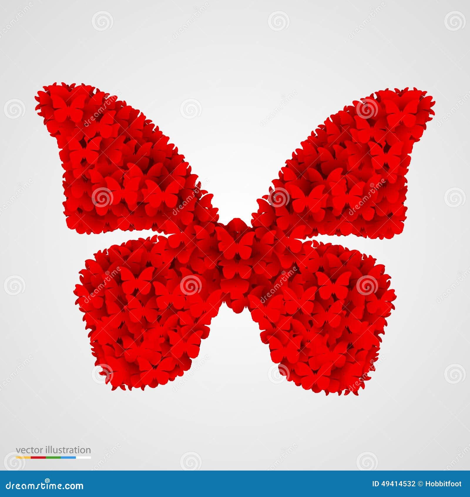 Download Schmetterling Gemacht Von Den Kleinen Butterflyes Vektor Abbildung - Illustration von abbildung, glücklich: 49414532