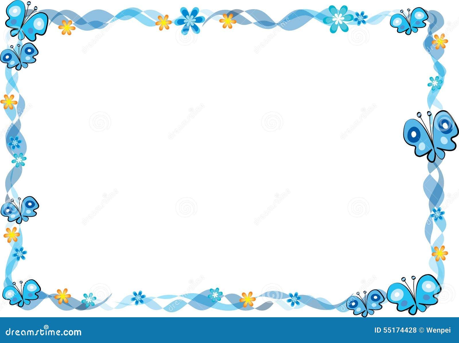 Schmetterling mit Rahmen stock abbildung. Illustration von rand ...