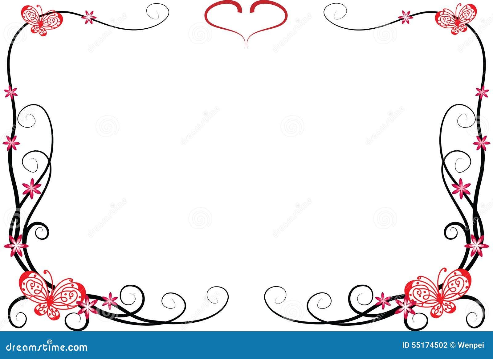 schmetterling mit rahmen stock abbildung bild 55174502. Black Bedroom Furniture Sets. Home Design Ideas