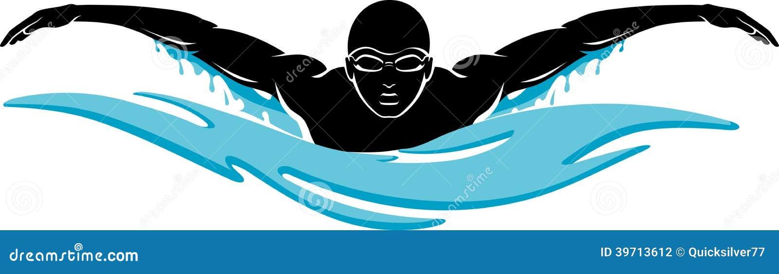 schmetterlings schwimmen vektor abbildung bild von schwimmen 39713612. Black Bedroom Furniture Sets. Home Design Ideas