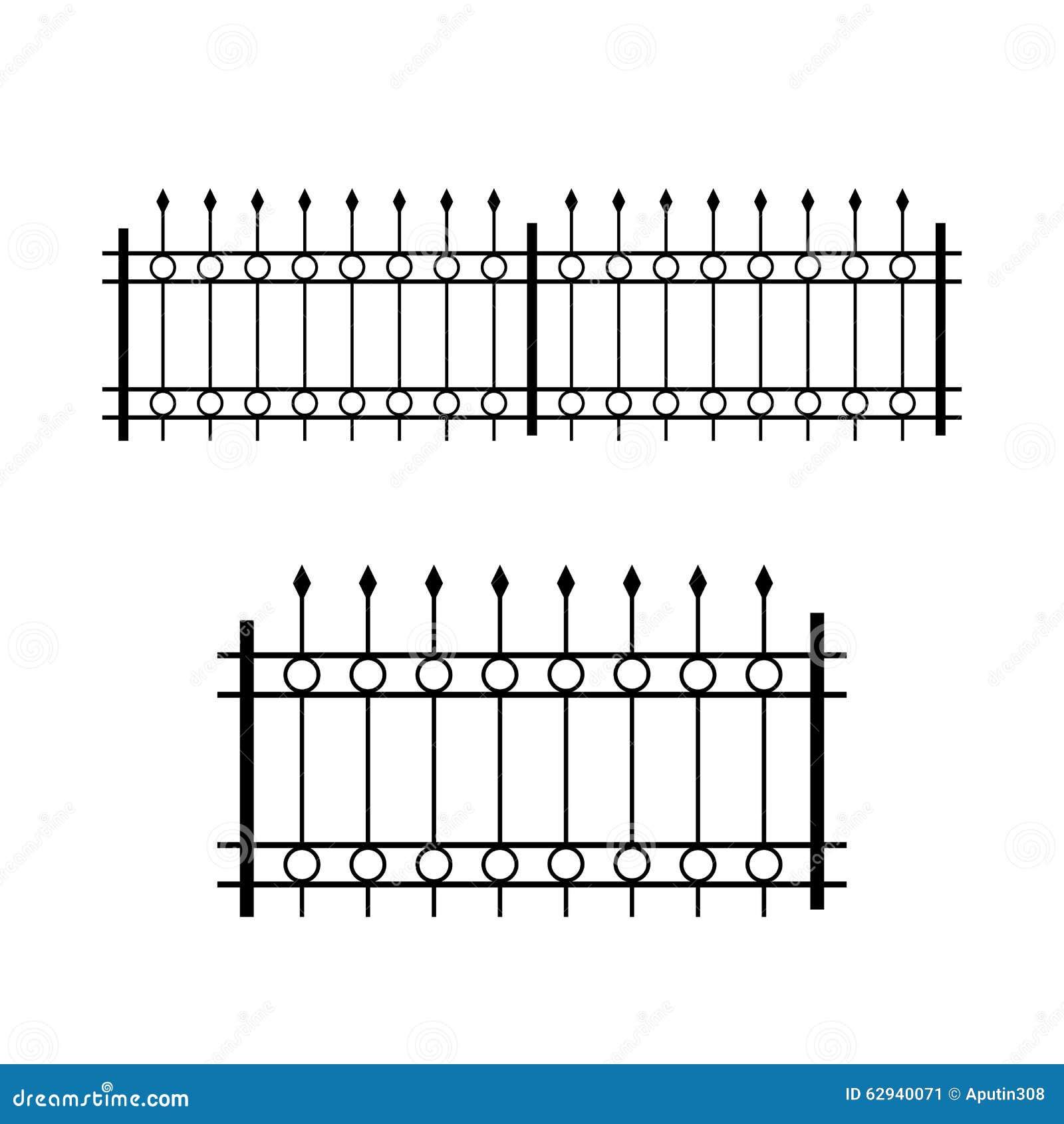 Schmiedeeisen Kopierter Zaun Auch Im Corel Abgehobenen Betrag
