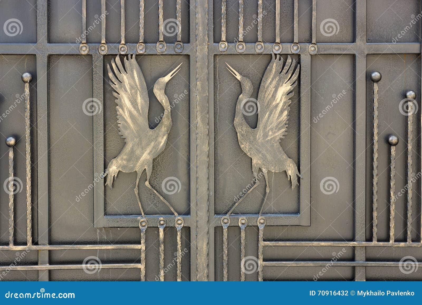 Schmiedeeisen Verziert Tore Und Zaun Stockfoto Bild