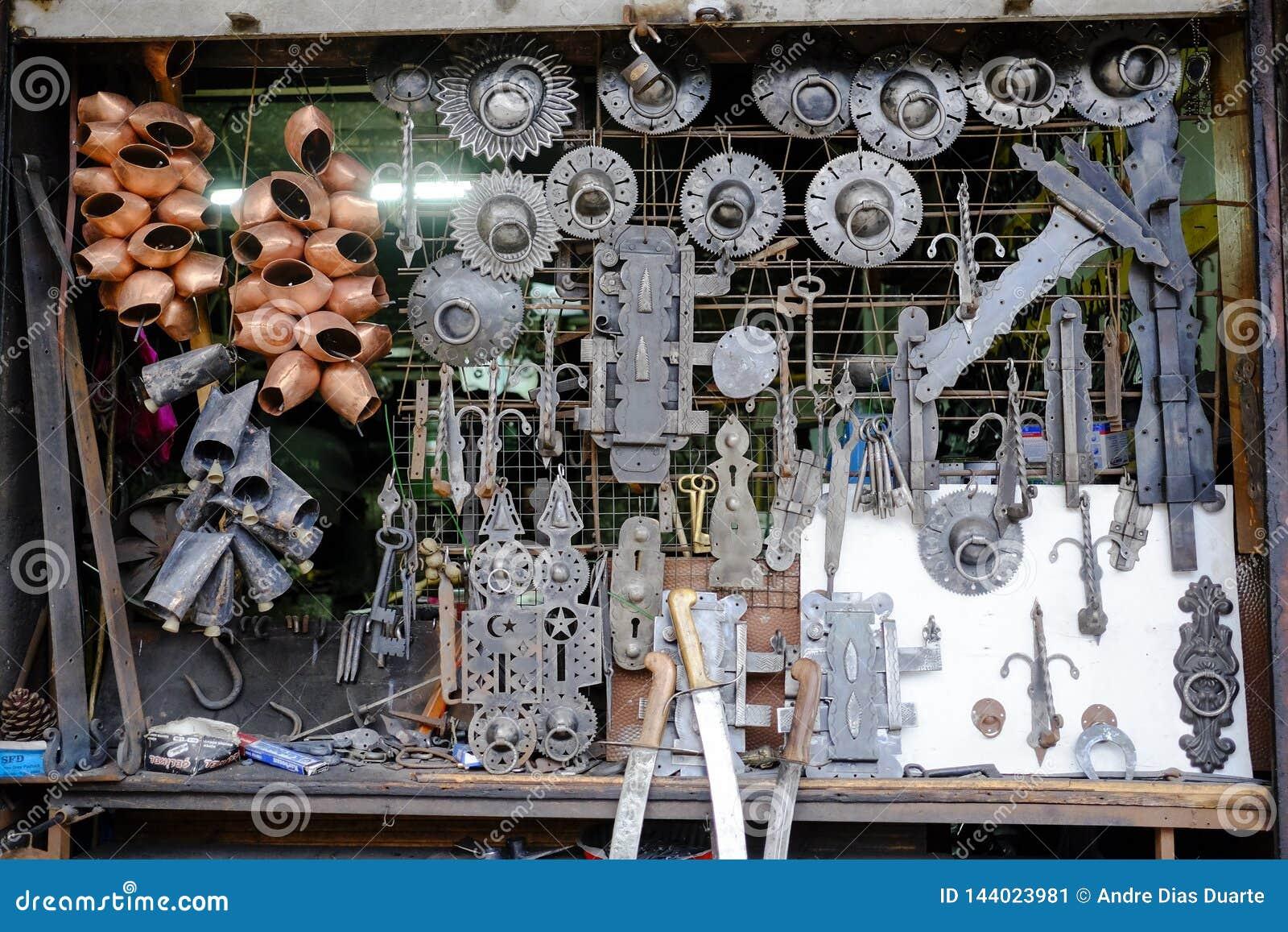 Schmiedegeschäftsfenster in Safranbolu