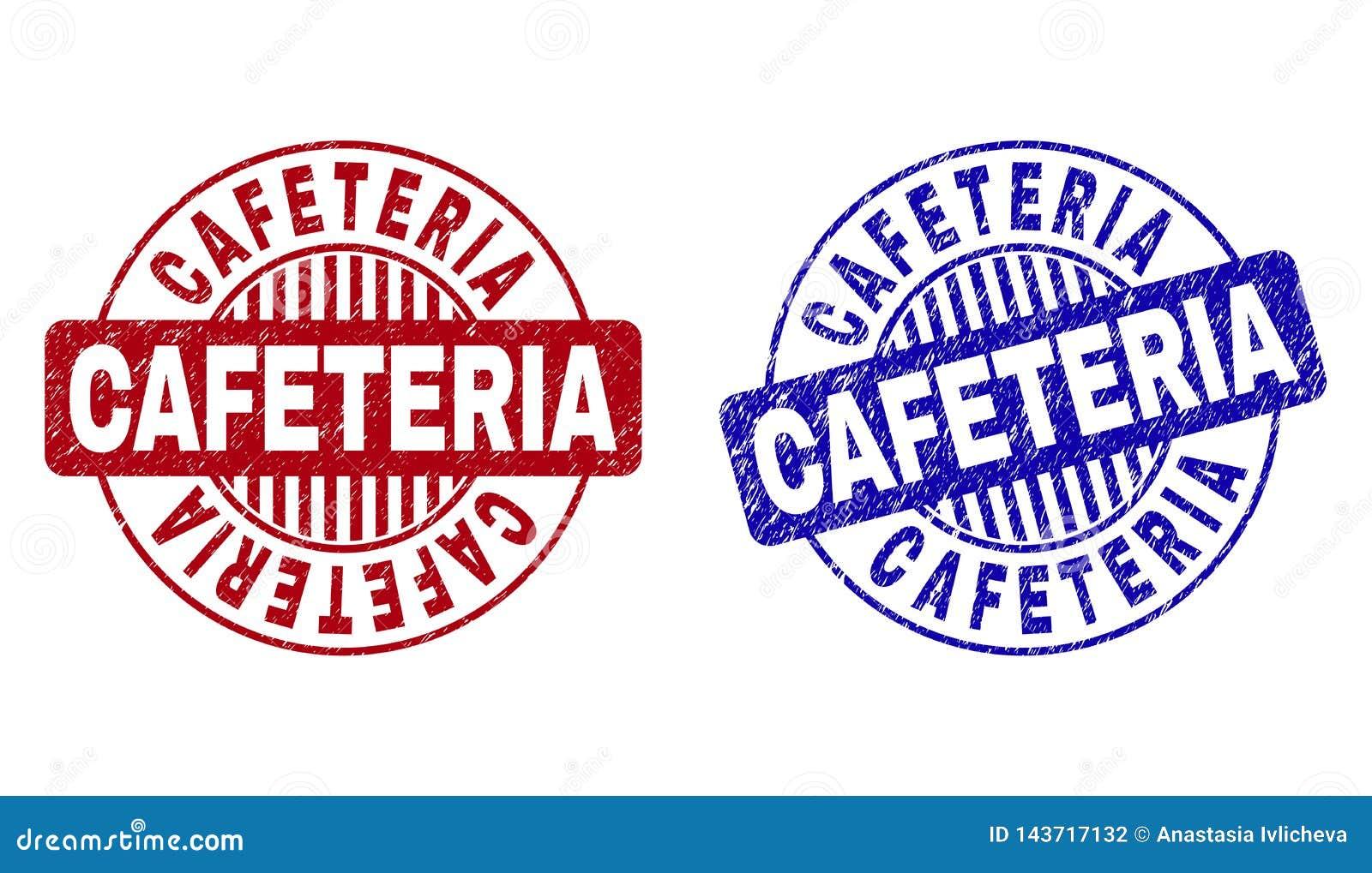 Schmutz CAFETERIA verkratzt ringsum Stempelsiegel