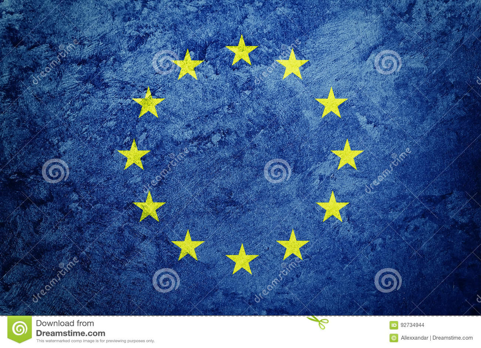 Schmutz Europa Union Jack EU Kennzeichnen Mit