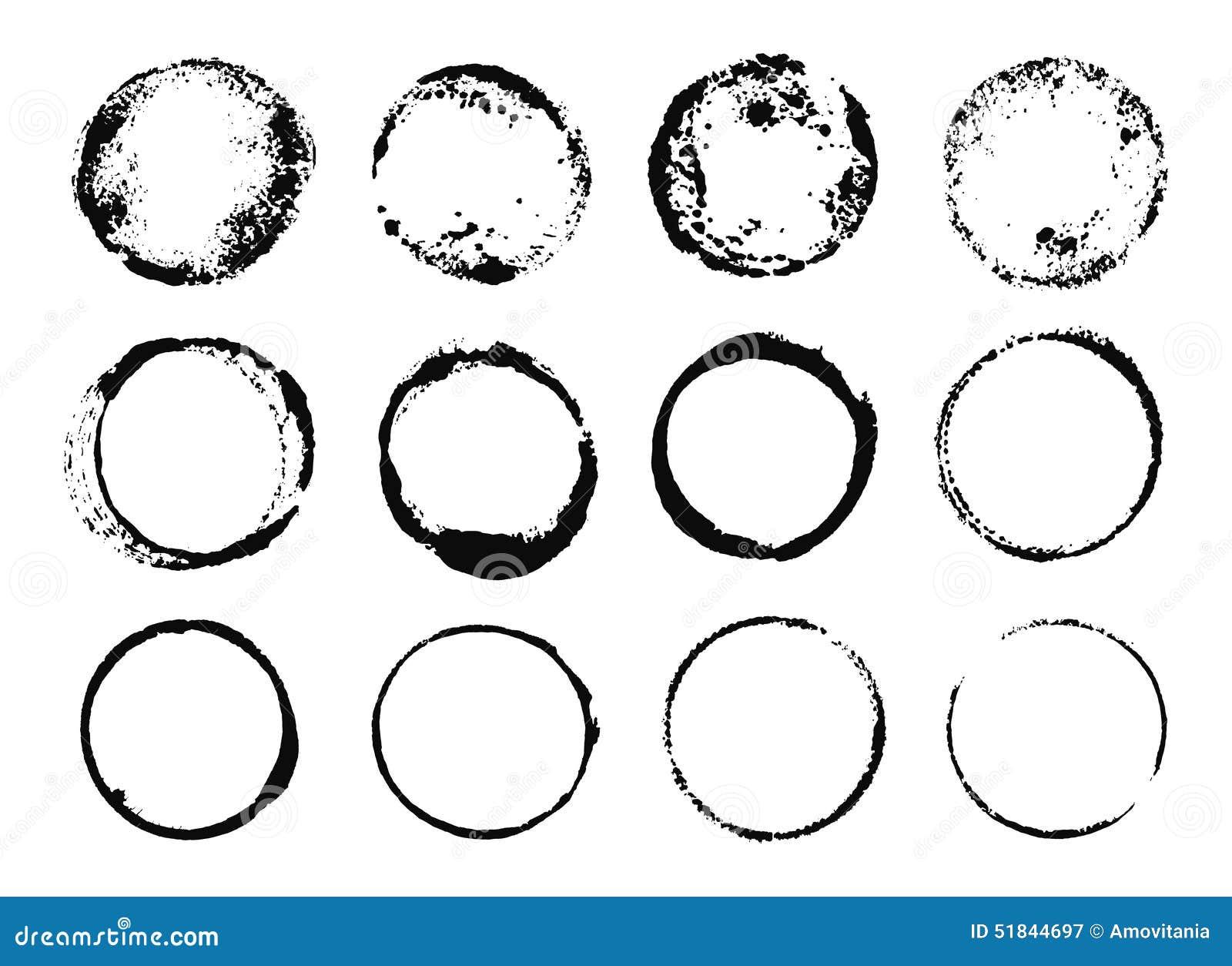 Schmutz-runde Rahmen stock abbildung. Illustration von kunst - 51844697
