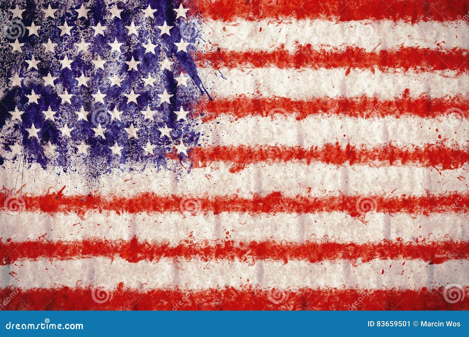 Schmutz USA-Flaggenhintergrund