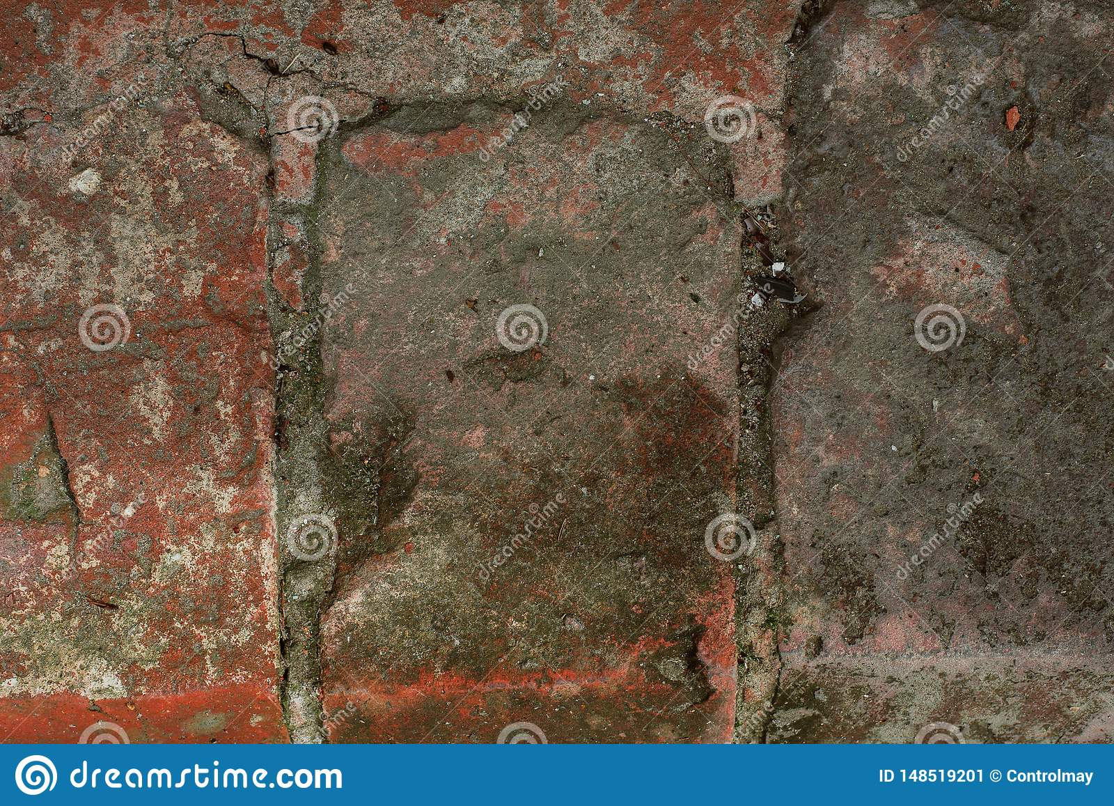 Schmutzige defekte Wand sehr nah