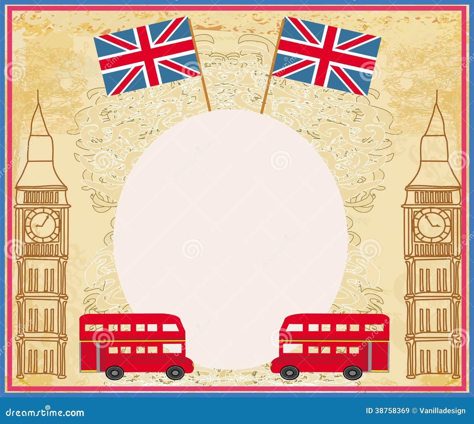 Schmutzrahmen Mit Ikonen Von London Vektor Abbildung - Illustration ...