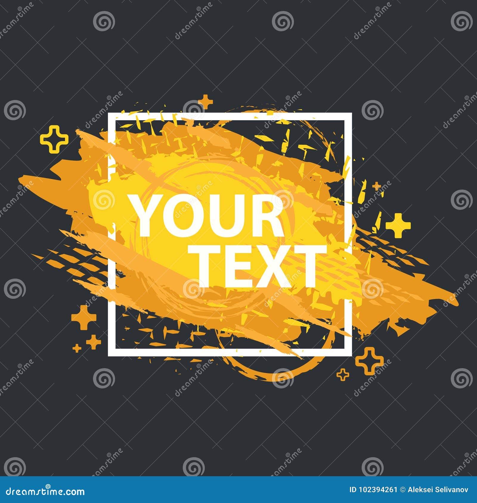 Schmutzspritzenfahne Vektor plätschern Aufkleber mit Raum für Text Grunge Kennsatz