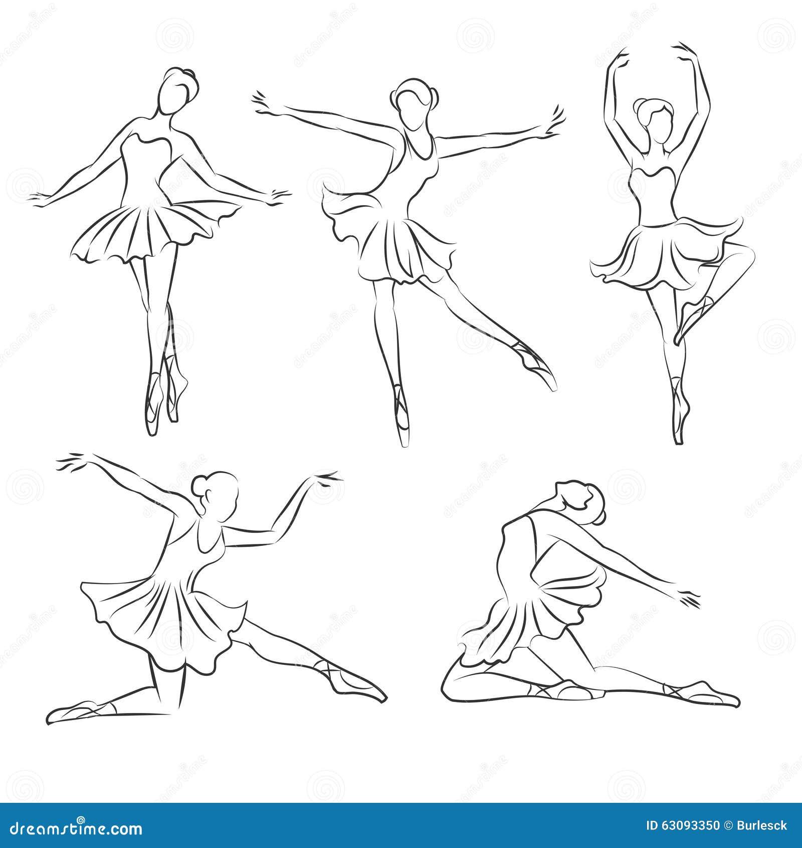 sch ne gezeichneter vektor der ballerina hand vektor abbildung bild 63093350. Black Bedroom Furniture Sets. Home Design Ideas