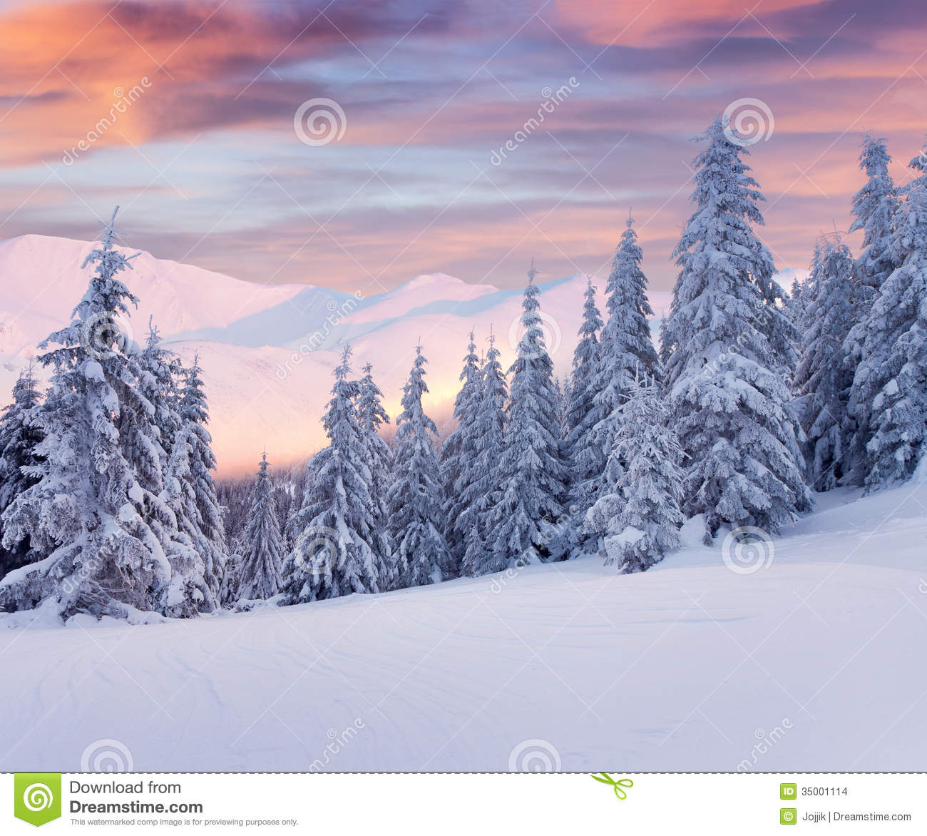 sch ne winterlandschaft in den bergen sonnenaufgang stockbilder bild 35001114. Black Bedroom Furniture Sets. Home Design Ideas