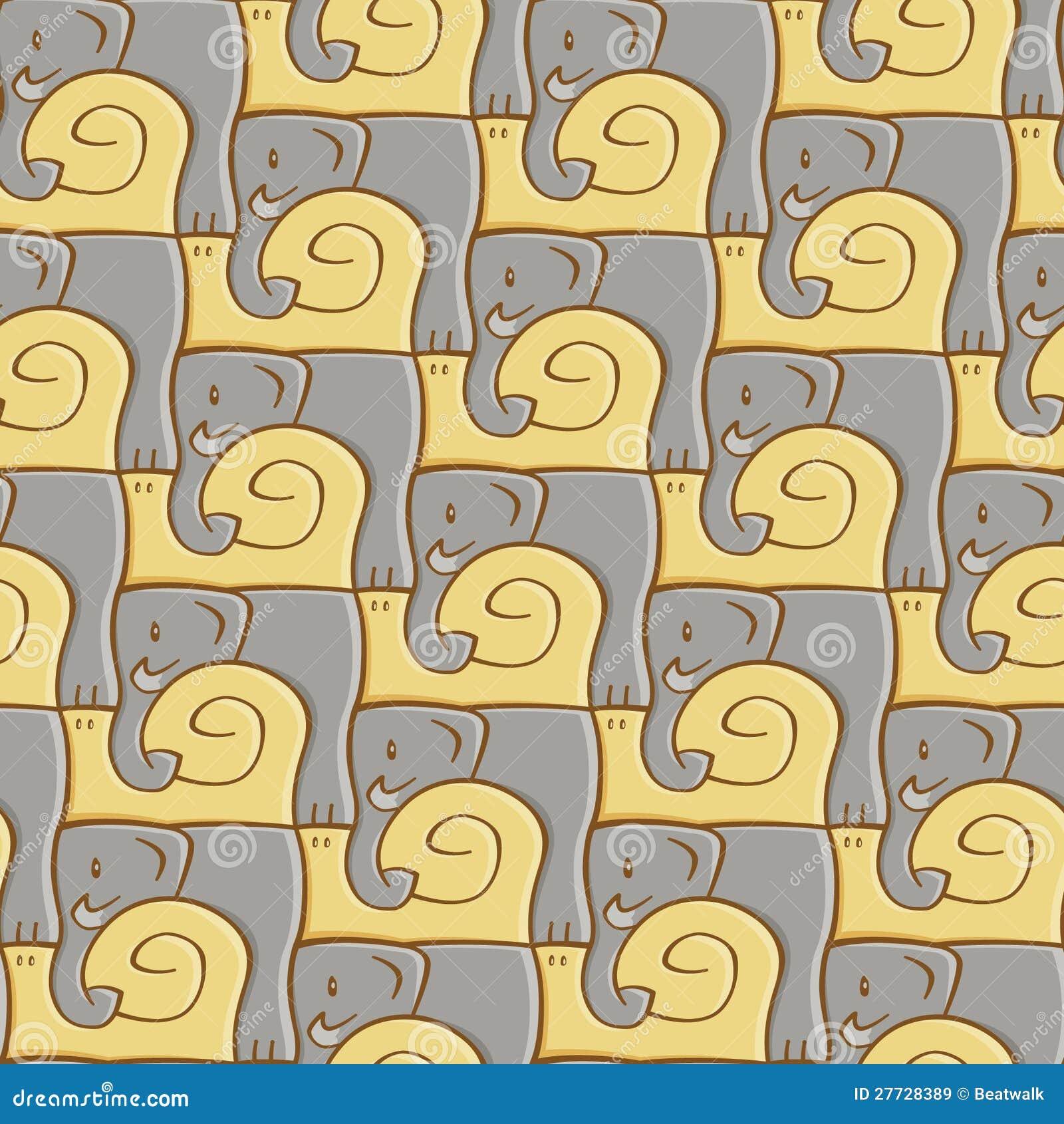 Schnecke-und Elefant-Muster