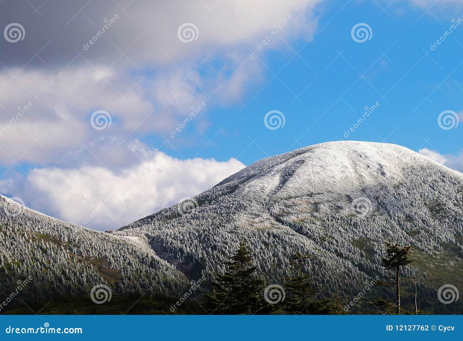 Schnee auf Berg