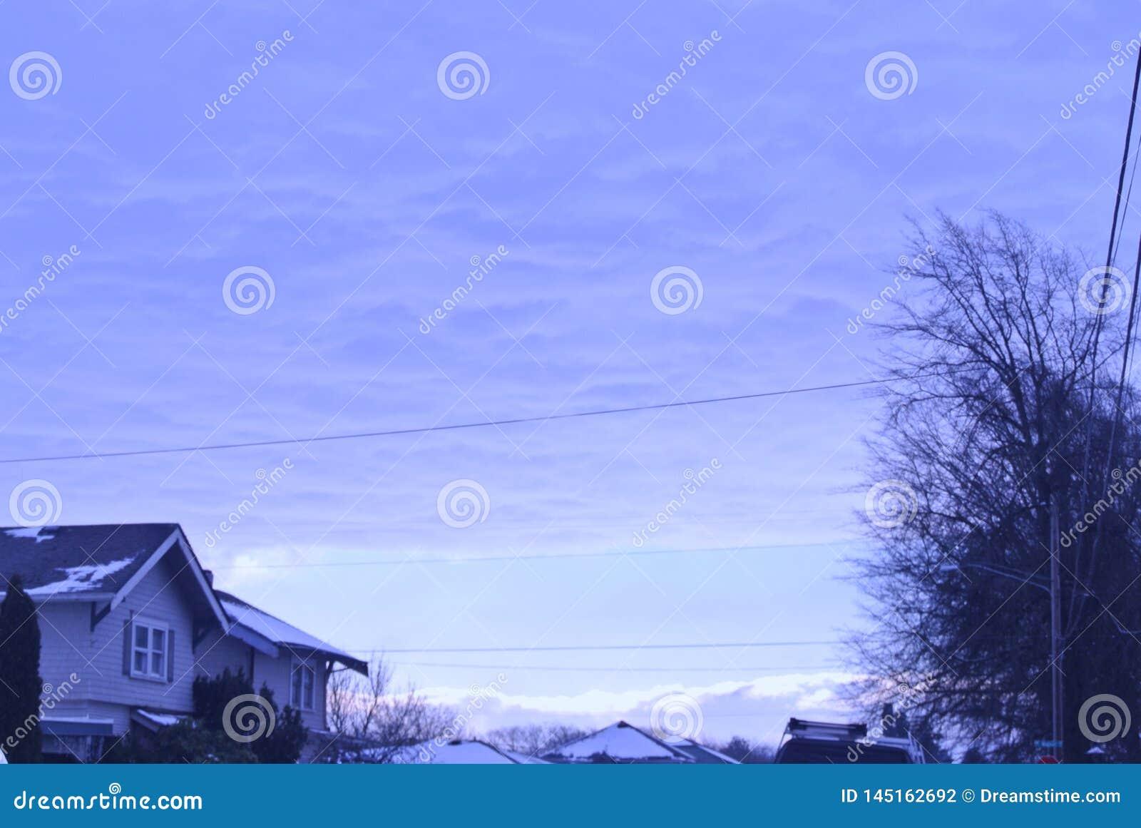 Schnee auf dem Himmel