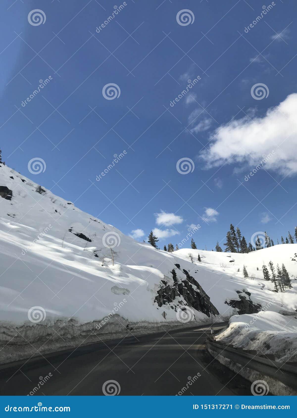 Schnee in Kalifornien