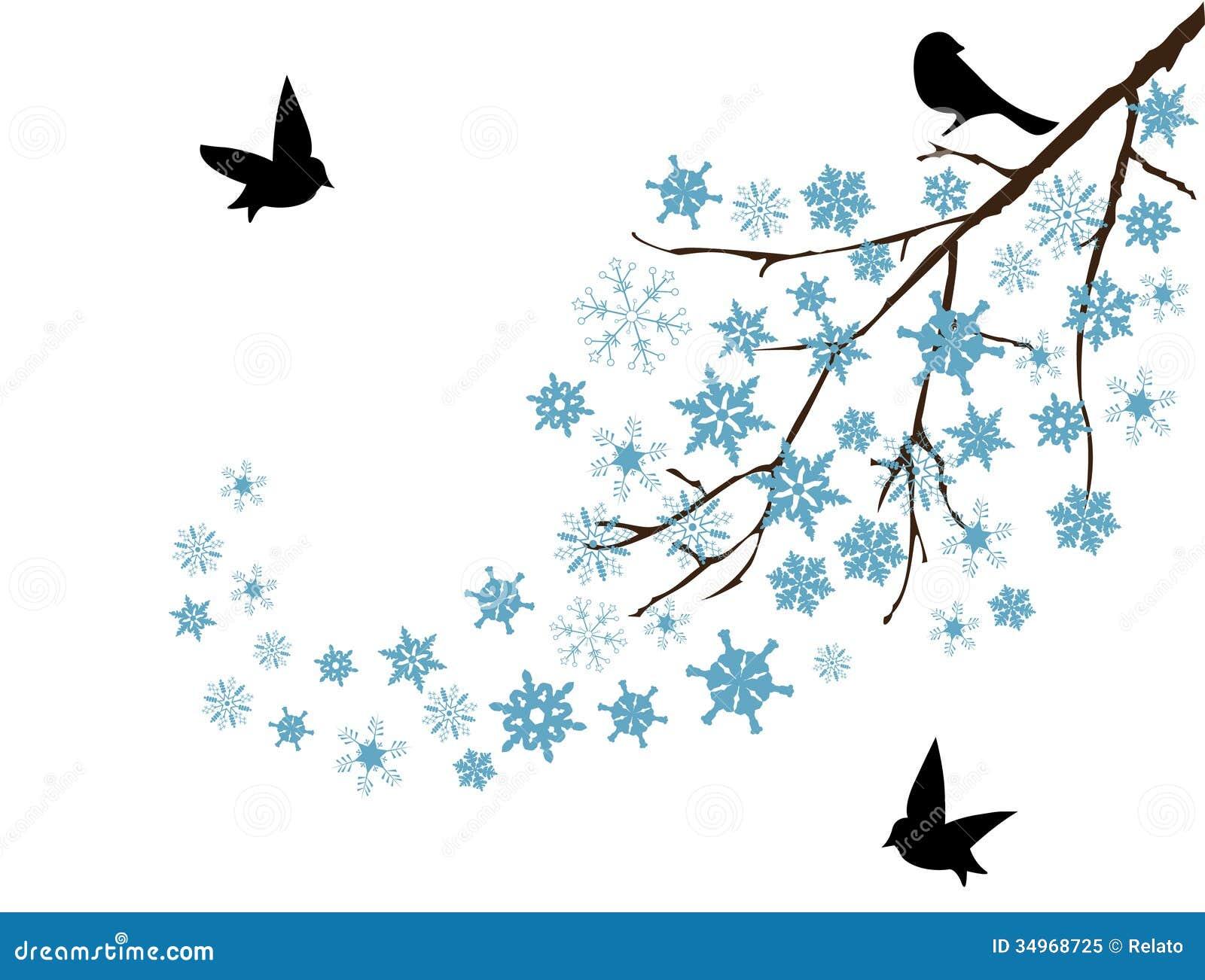 Schnee Niederlassung Vektor Abbildung Illustration Von