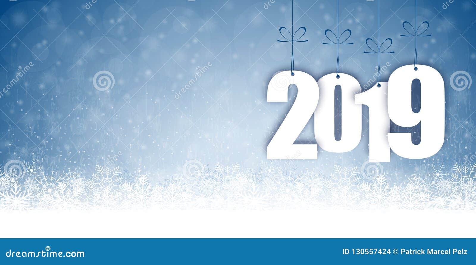 Schneefallhintergrund für Weihnachten und neues Jahr 2019