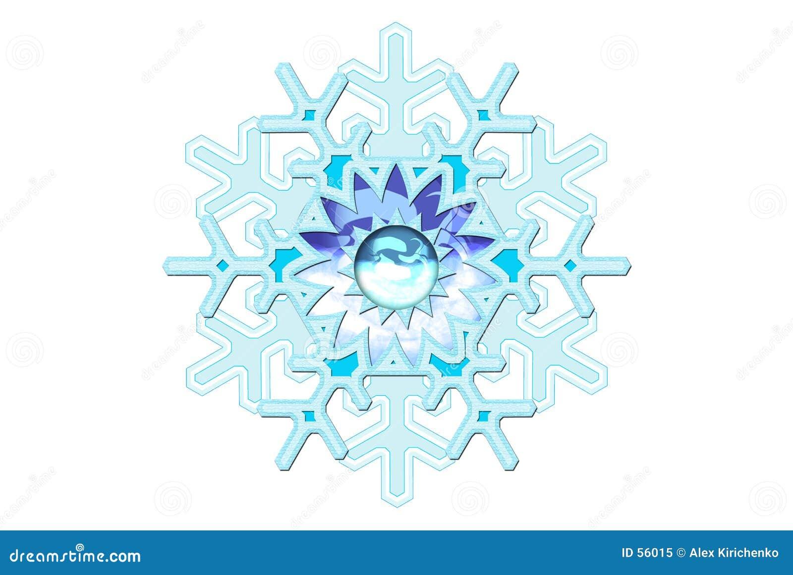 Schneeflocke-Fantasie