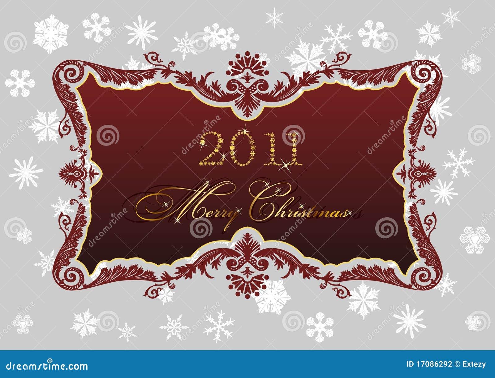 Schneeflockedekor des Weihnachtsroter Spants 2011