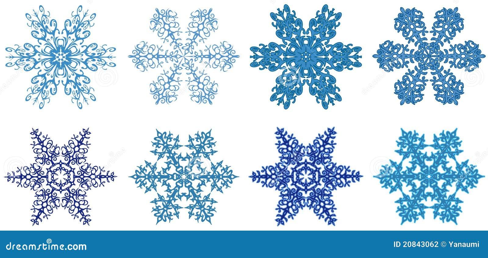Schneeflocken clipart vektor abbildung. Illustration von groß - 20843062