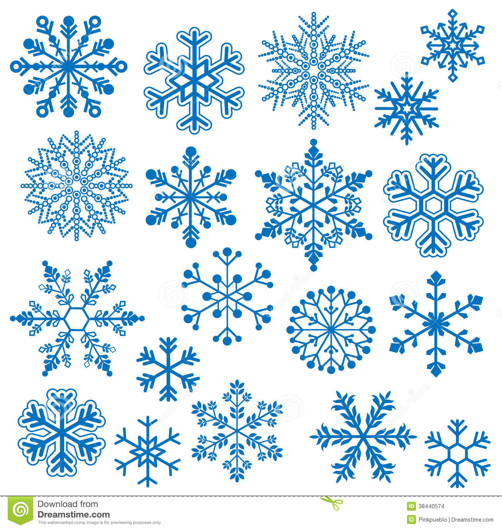 Schneeflocken-Vektoren