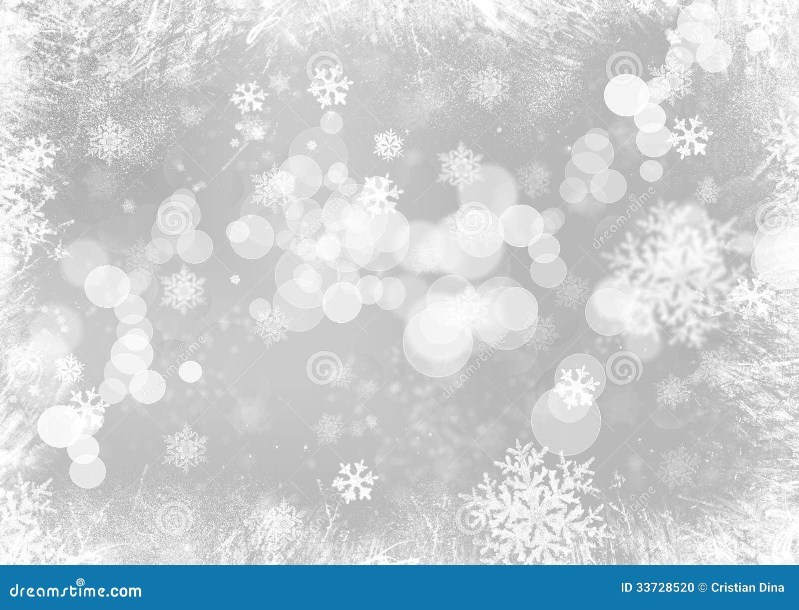 Schneeflocken-Weihnachtshintergrund