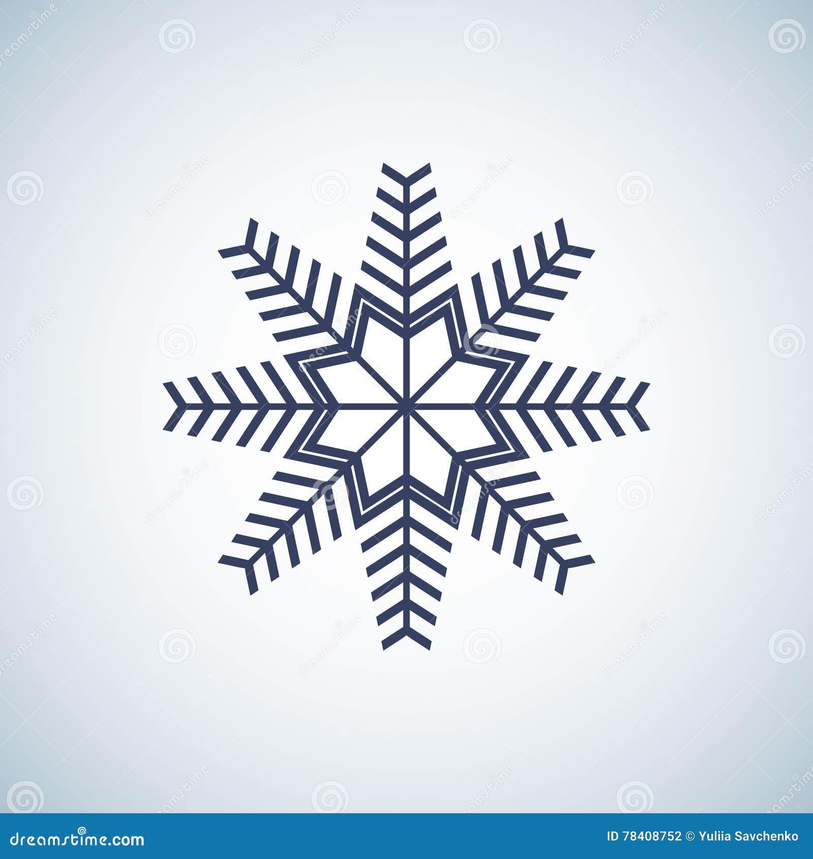 Schneeflockenikonengraphik Satz von 16 lokalisierte Elemente auf weißem Hintergrund