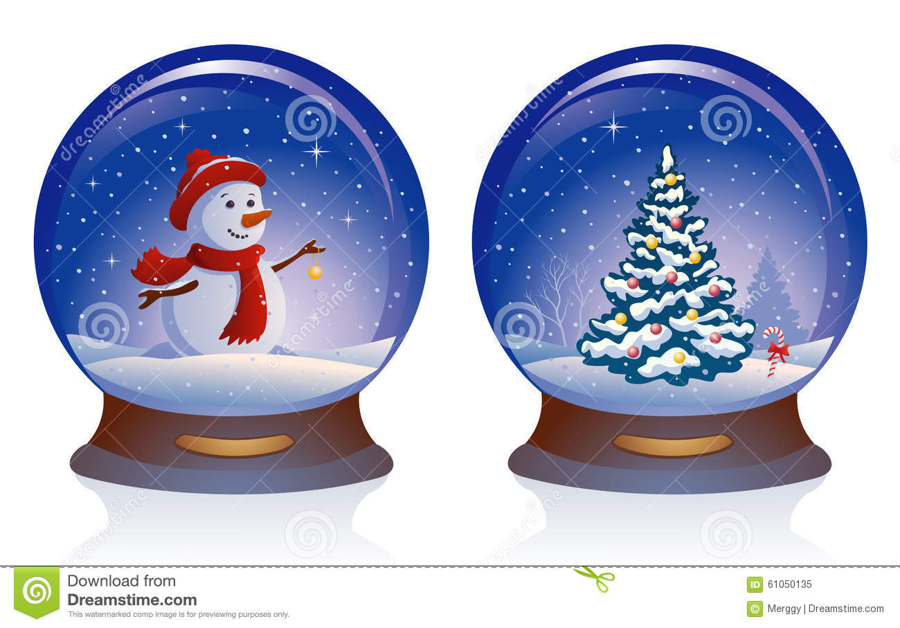 Christmas Tree Snow Globes
