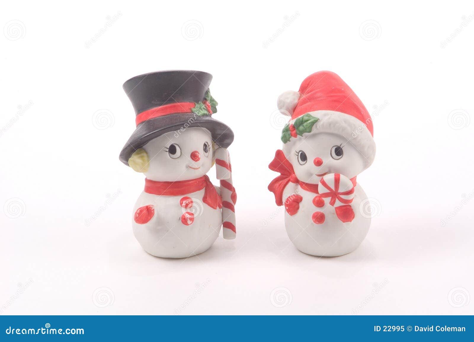 Schneemann und Schnee-Frau