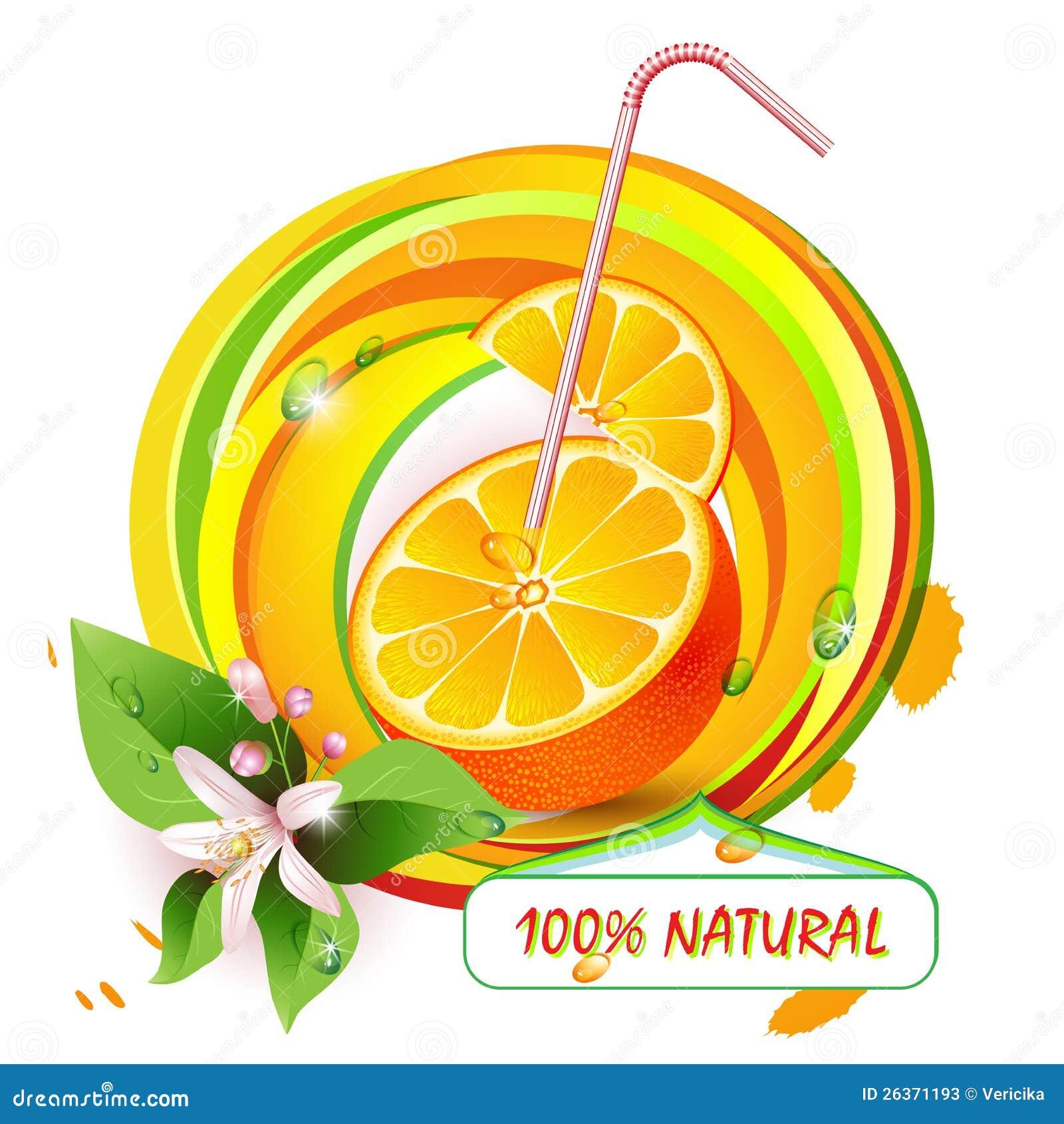 Schneidet Orange mit Blumen