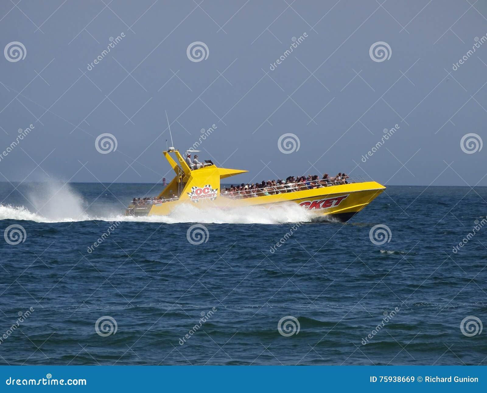 Schnellboot-Fahrt-Ozean-Stadt Maryland