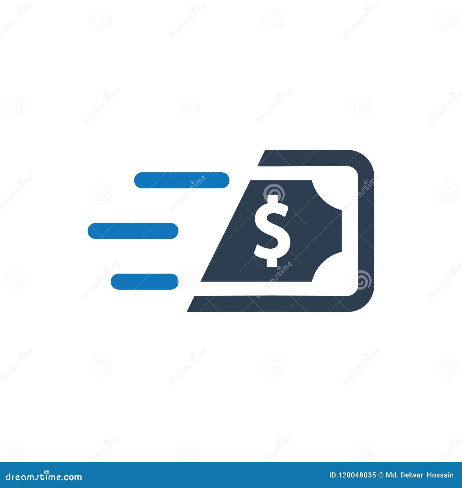 Schnelle Bargeld-Ikone