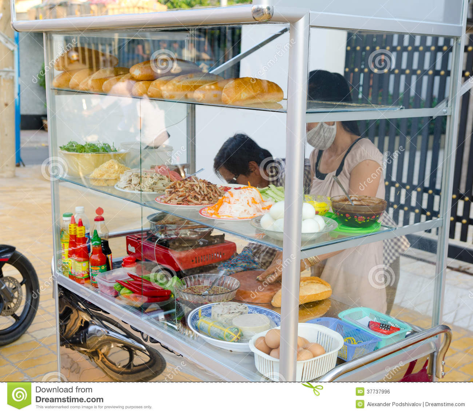 Schnellimbissstand, Vietnam