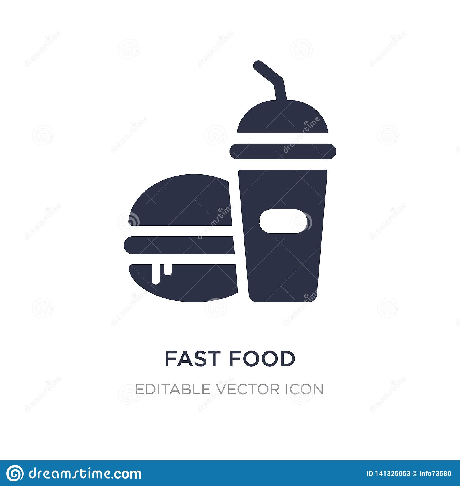 Schnellrestaurantikone auf weißem Hintergrund Einfache Elementillustration vom Nahrungsmittelkonzept