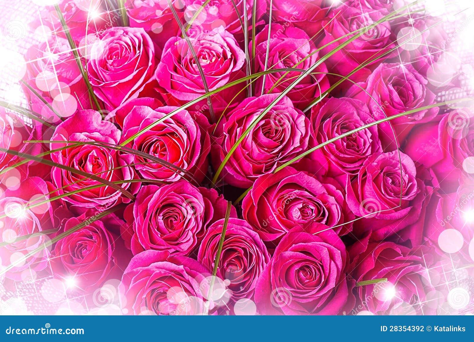 sch ner gro er blumenstrau der rosa rosen. Black Bedroom Furniture Sets. Home Design Ideas