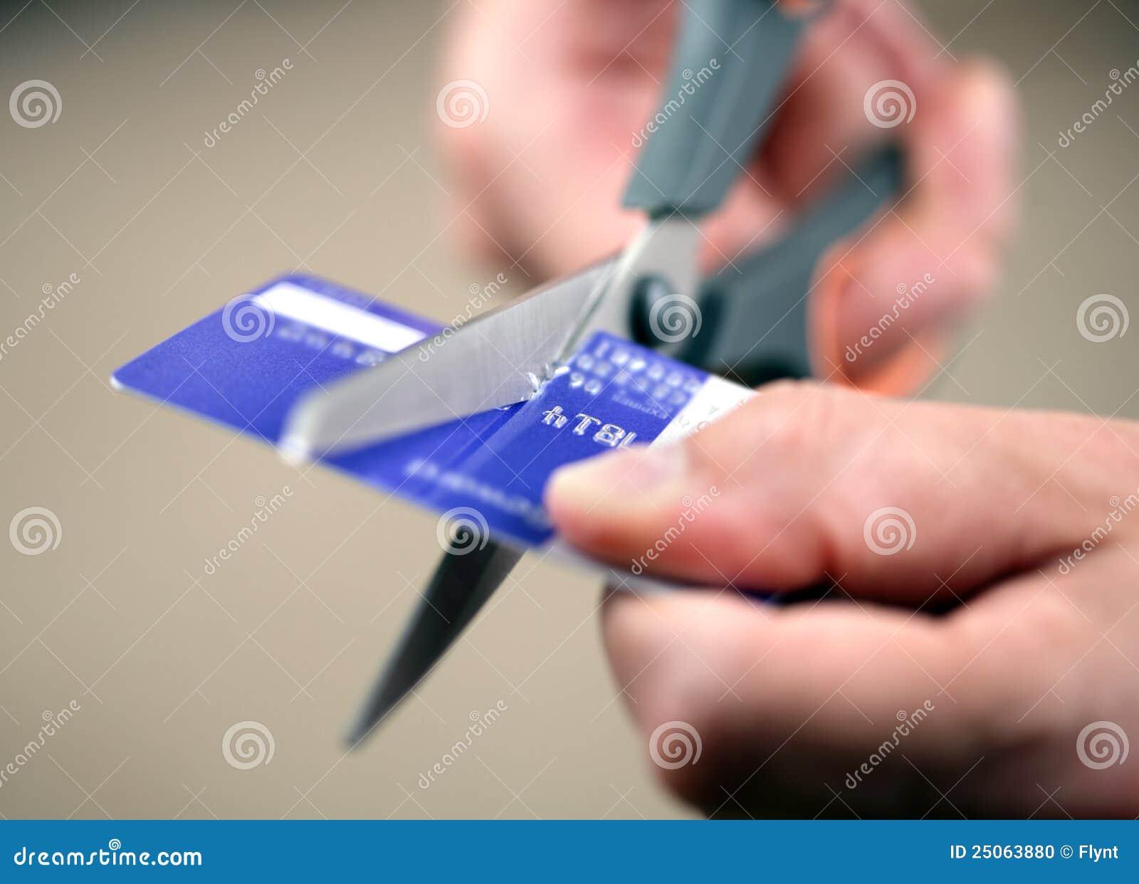 Schnitt einer Kreditkarte