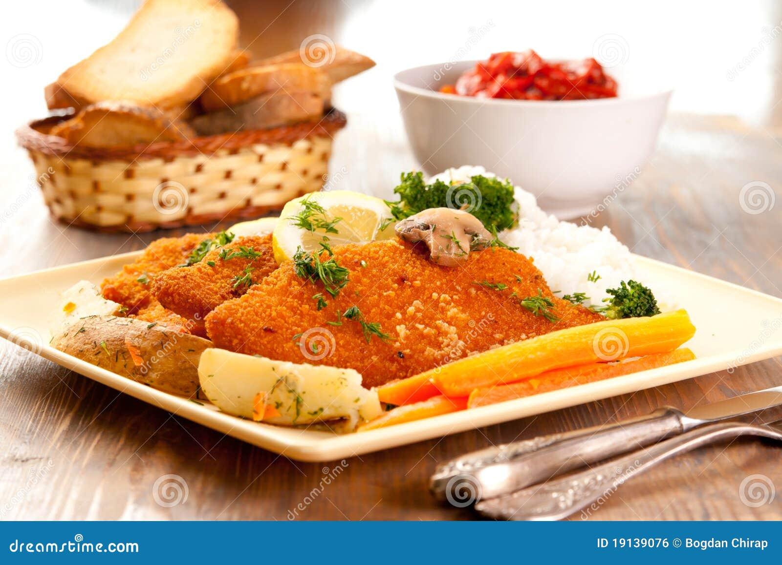 Schnitzels de salchicha de Francfort