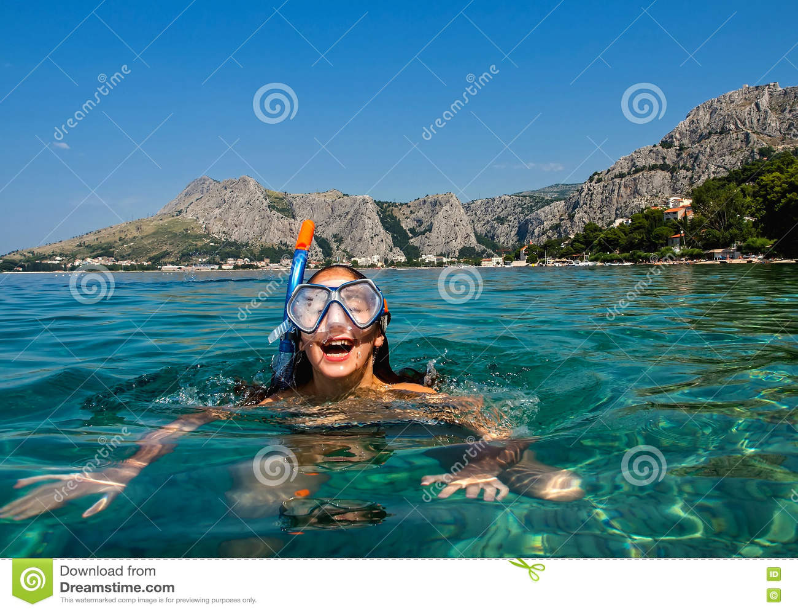 Schnorchel in adriatischem Meer