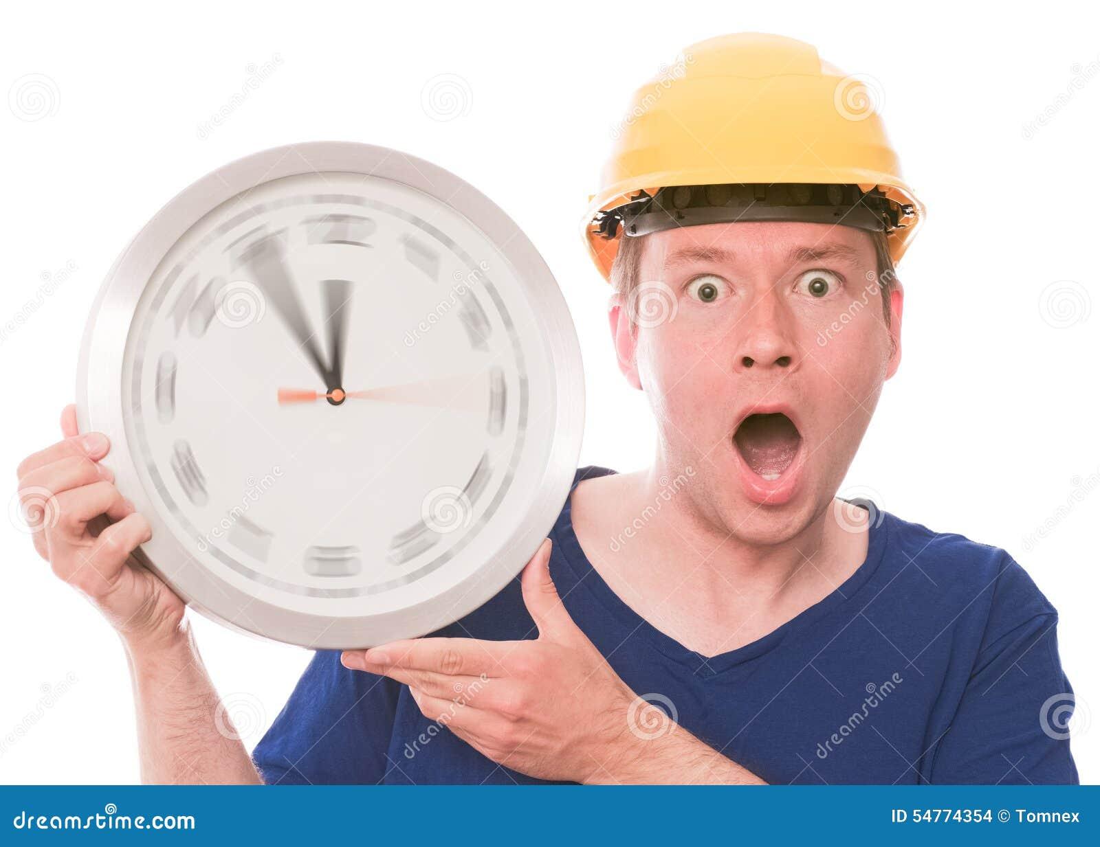 Schockierende Bauzeit (spinnende Uhrzeigerversion)