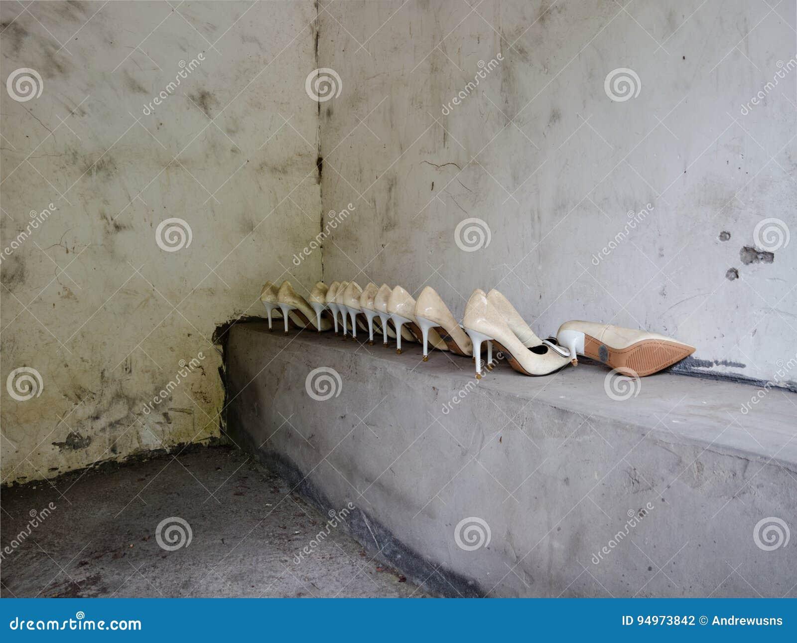 Schoenen in een rust einde